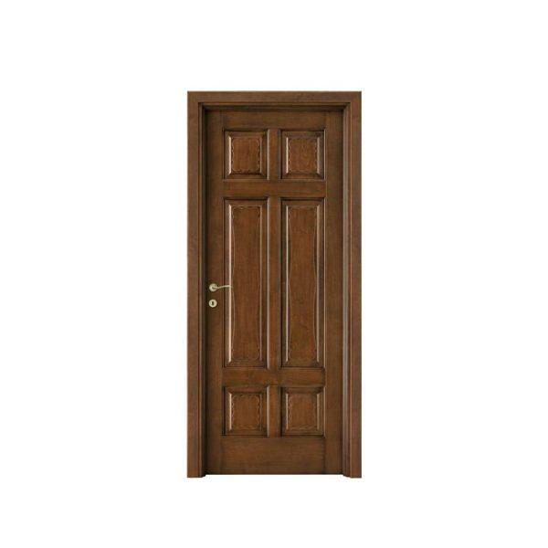 China WDMA flat teak wood main door designs Wooden doors