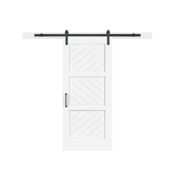 China WDMA New Design Wood Doors Sliding Barn Door Hidden Pocket Wooden Doors