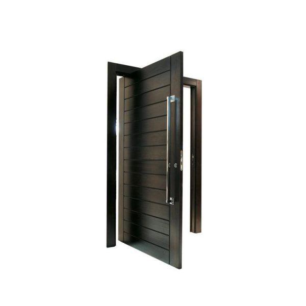 WDMA Oak Wood Large Pivot Glass Door Front Door