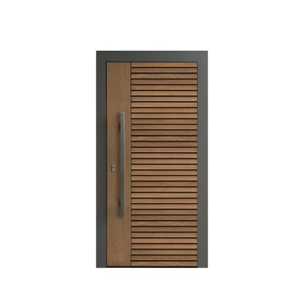 China WDMA Oak Wood Large Pivot Glass Door Front Door
