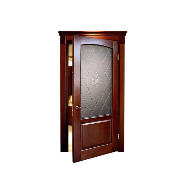 China WDMA wooden door with dragon carved Wooden doors