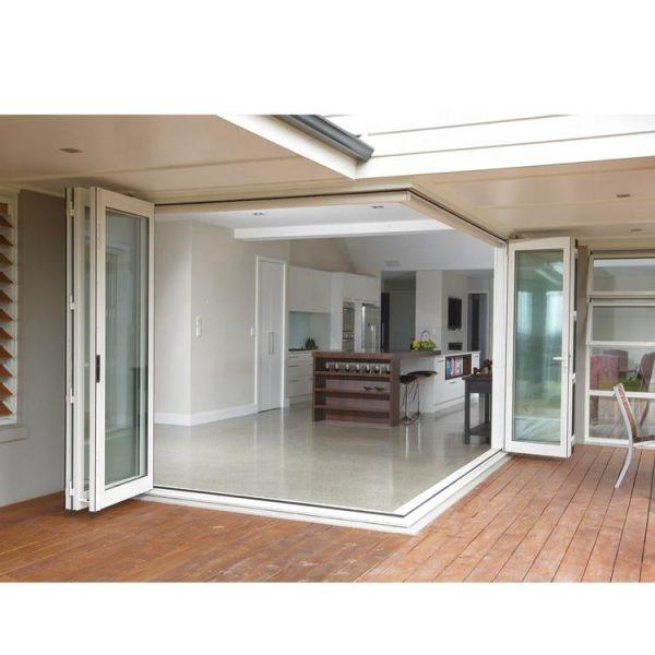 WDMA Outdoor Aluminium Bifold Folding Balcony Patio Triple Glass French Doors