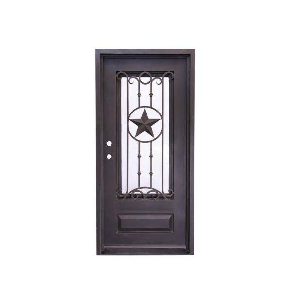 China WDMA wrought iron door outdoor