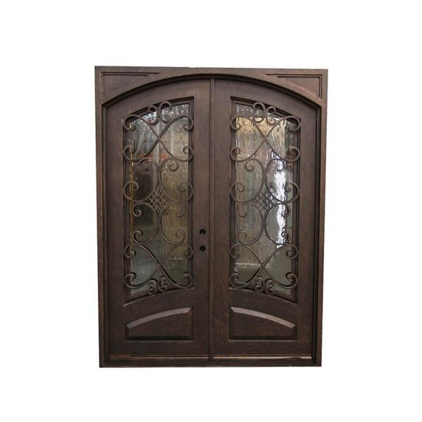 China WDMA wrought iron door outdoor Steel Door Wrought Iron Door