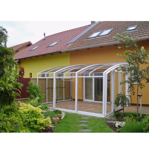 China WDMA Outdoor Polycarbonate Retractable Swimming Pool Glass Cover