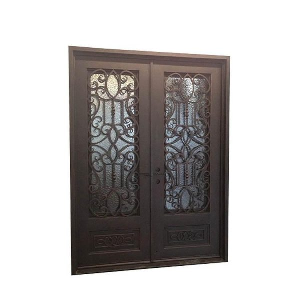China WDMA Outdoor Wrought Iron French Patio Glass Door Lowes Wrought Iron Front Double Main Entry Storm Door Price