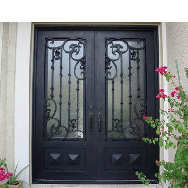 China WDMA wrought iron patio door Steel Door Wrought Iron Door