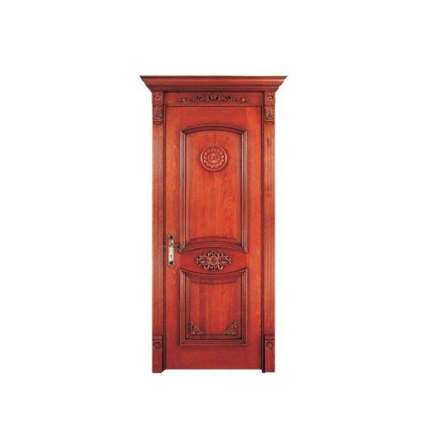 China WDMA Philippines Narra Wood Glass Hinge Doors Polish Color