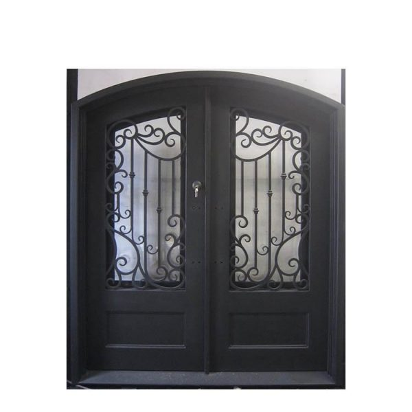 WDMA Pictures Modern Wrought Iron Gate Double Door Iron Entrance Gate Prices For Luxury Villa