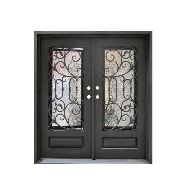 WDMA double door iron gate Steel Door Wrought Iron Door