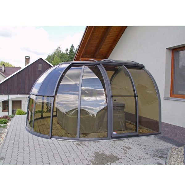 WDMA polycarbonate swimming pool cover roof retractable
