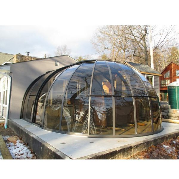 WDMA polycarbonate swimming pool cover roof retractable Aluminum Sunroom