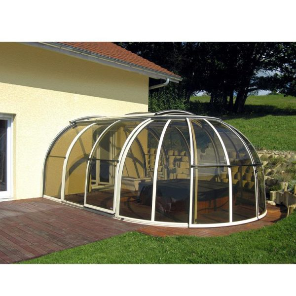 China WDMA polycarbonate swimming pool cover roof retractable Aluminum Sunroom