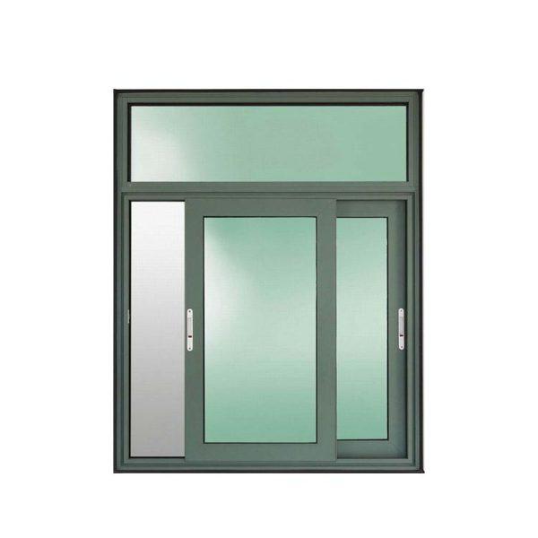 WDMA Powder Coating Aluminium Frame 3 Tracks Sliding Glass Window With Grill Design