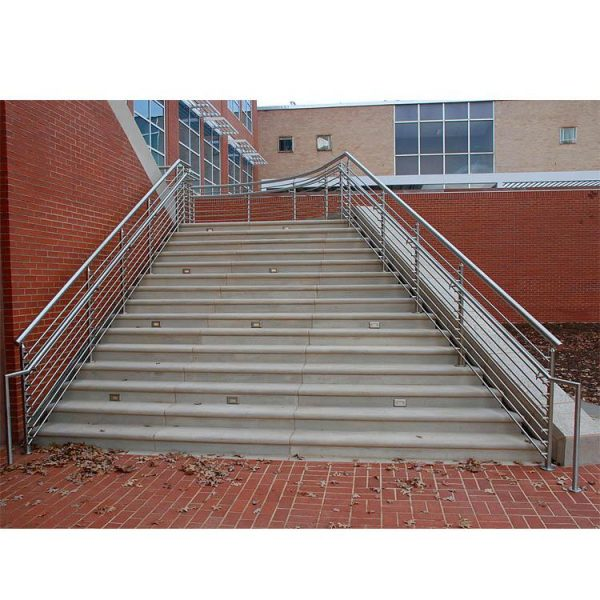 China WDMA Prefab Metal Square Pipe Balcony Stair Railing Modern Design