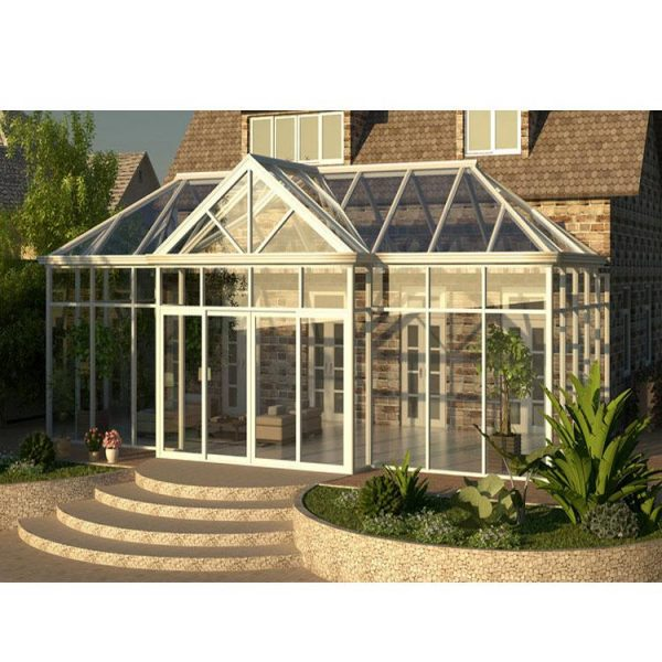China WDMA Prefabricated Conservatory House Lean To Sunroom