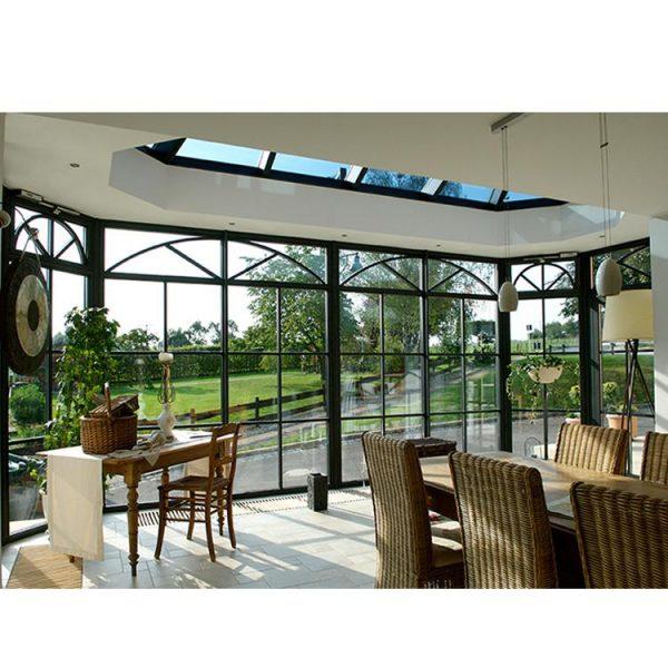 China WDMA prefabricated aluminum glass sunroom