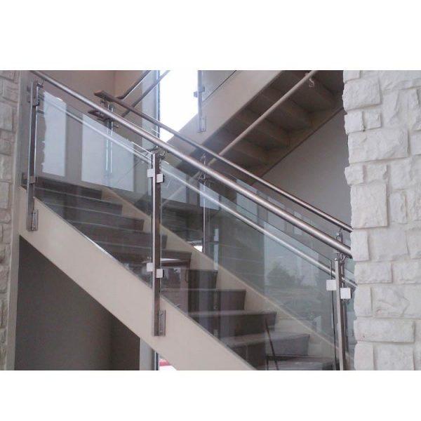 China WDMA Price Meter Prefab White Staircase Wrought Iron Stair Railing Simple Design For Veranda