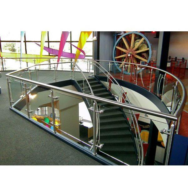 China WDMA prefab wrought iron stair railing