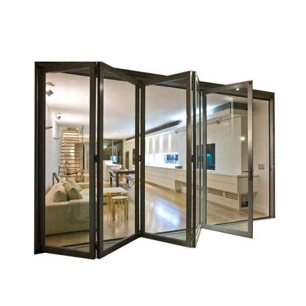 WDMA Puertana New Style Customized Oem Ghana Aluminium Folding Sliding Door