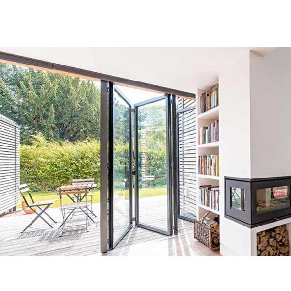 China WDMA Puertana Soundproof Aluminium Folding Glass Door Price With Australian Standards As2047