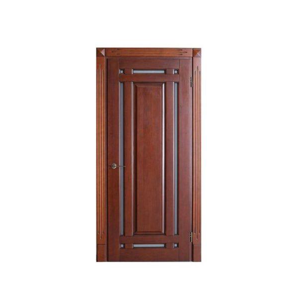 WDMA Pure Solid Wooden Door North Indian House Interior Doors Model Design