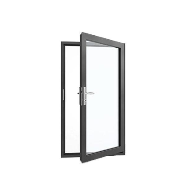 China WDMA Readymade Aluminium Designer Double Sided Swing Mirror Glass Door Model Size For Saloon