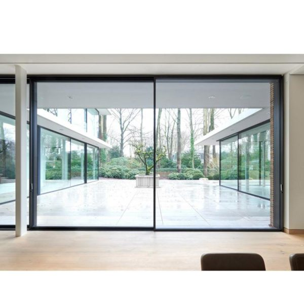 China WDMA Residential New Color Coating Power Operated Automatic Auto Soft Close Sensor Multi Sliding Glass Door Design From Guangzhou