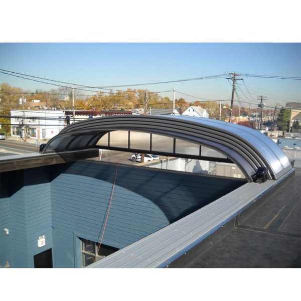 WDMA Retractable Curved Sunroom For Swimming Pool Dome Cover Polycarbonate