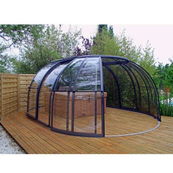 WDMA Retractable Swimming Pool Dome Cover Hot Tub Cover Spa Dome Enclosure
