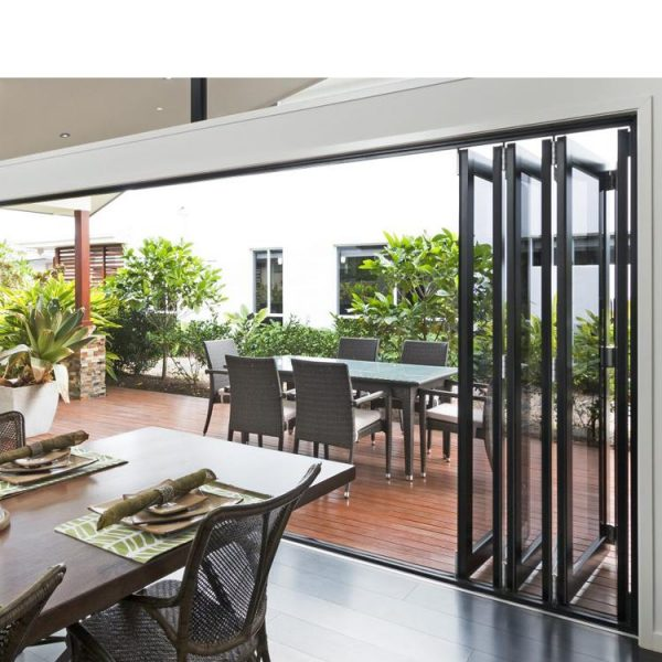 China WDMA Room Dividers Accordion Folding Doors With Mosquito Net