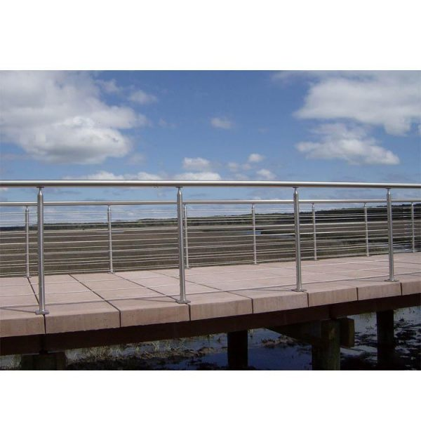 China WDMA Safety Hotel Ss Galvanized Balcony Railing Pipe Inox Handrail Balustrade Design