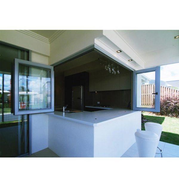 WDMA Samples Of Finished Powder Coated Non-thermal Break Corner Butt Joint L Shaped Horizontal Aluminum Folding Window