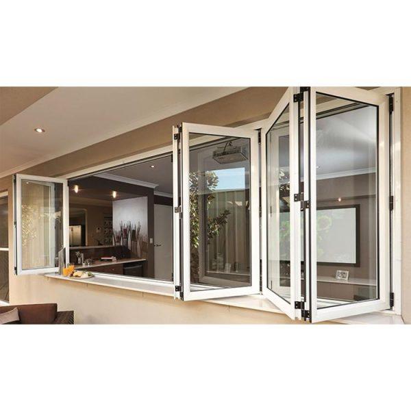 China WDMA corner butt joint window Aluminum Folding Window