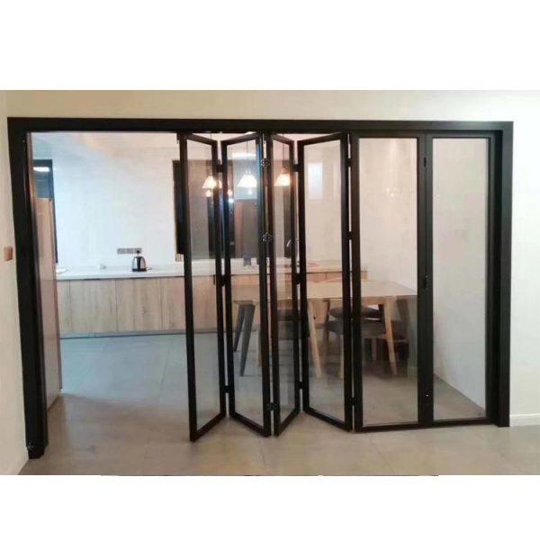 WDMA Shandong Factory Cheap Price Of Standard Width Aluminum Glass Bi Folding Door