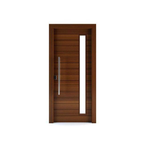 China WDMA Shandong Manufacture 180 Degree Hinge Solid Wooden Pivot Door