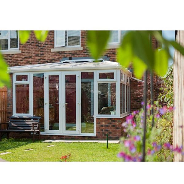 China WDMA Simple Design Glass Sun room for house pool Factory Supplied White Color