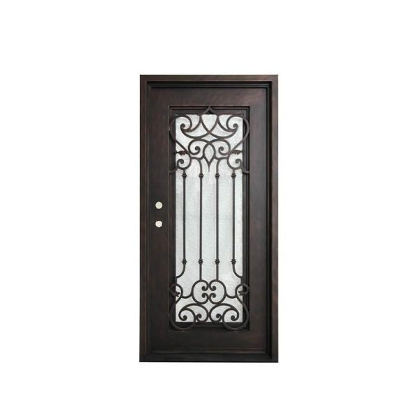 WDMA Simple Forged Iron Front Main Gate Grey Color Wrought Iron Door Grill Design