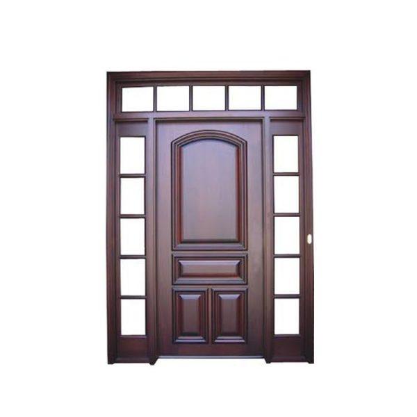 China WDMA Solid Wooden Single Main Swing Door Design