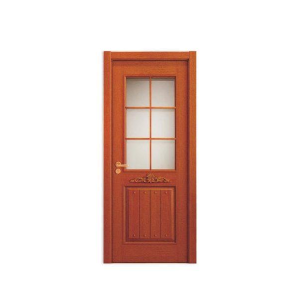 China WDMA Wooden Single Main Door Design