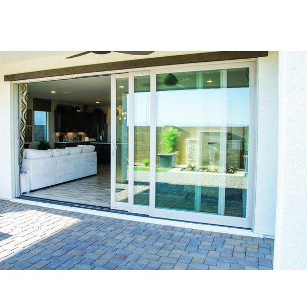 China WDMA Soundproof Interior Synchronized Telescopic Waterproof Terrace Sliding Glass Door Room Dividers Design