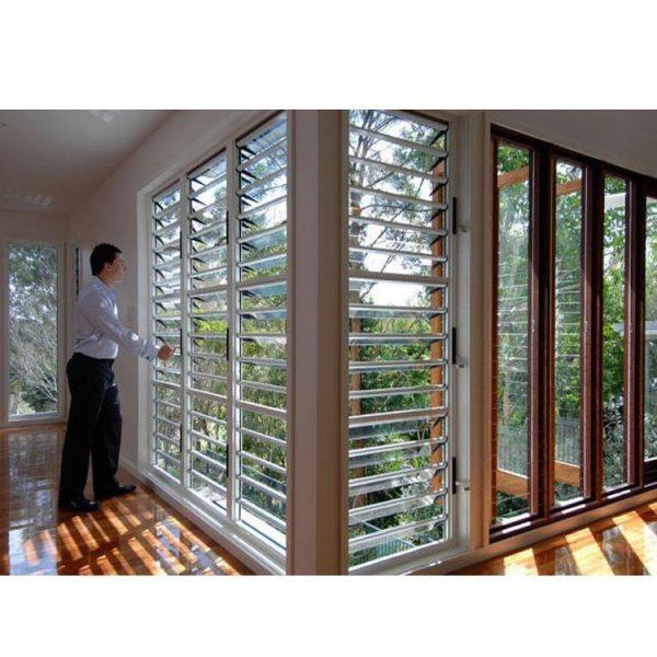 China WDMA Standard House Aluminium Jalousie Shutter Glass Naco Louvre Windows Ventilation With Glass Shutters Sizes