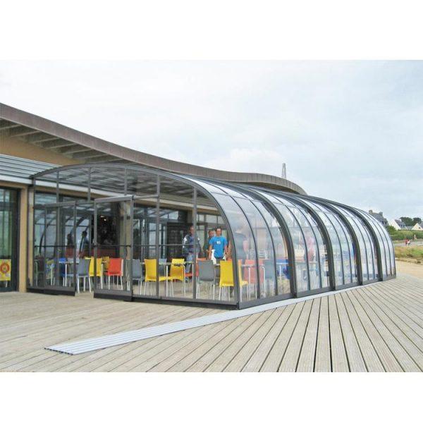China WDMA Telescopic Retractable Lean To Sunroom Enclosure Outdoor Sliding Pool Cover Enclosures