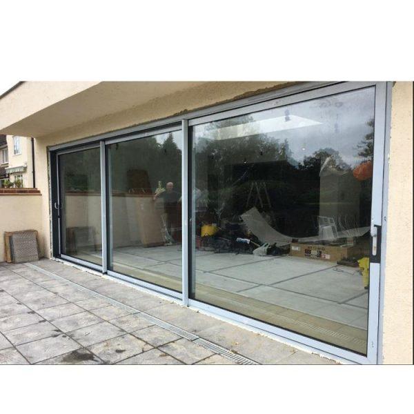 WDMA three panel sliding glass door Aluminum Sliding Doors