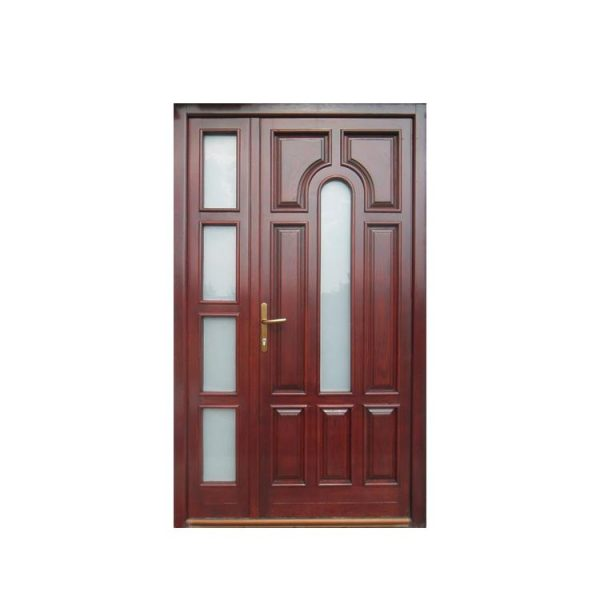 WDMA Turkish Door With Beveled Glass Wood Doors