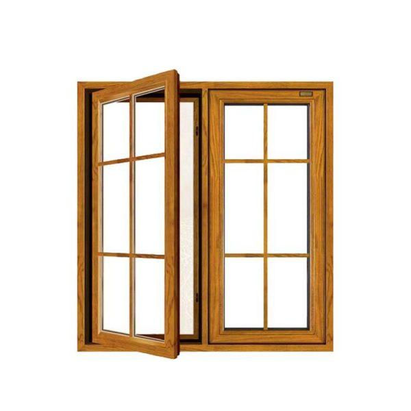 China WDMA Usa Swing Open Style And Aluminium Frame Wood Window With Triple Tempered Glazed