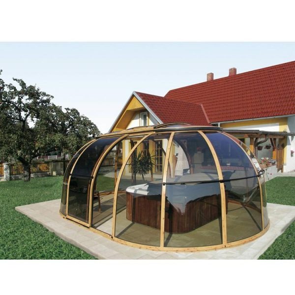 China WDMA Wholesale Price Waterproof Retractable Awnings Motorized Swimming Pool Enclosures