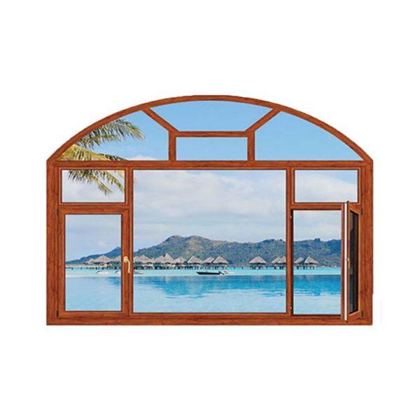 WDMA aluminium glass window with blinds
