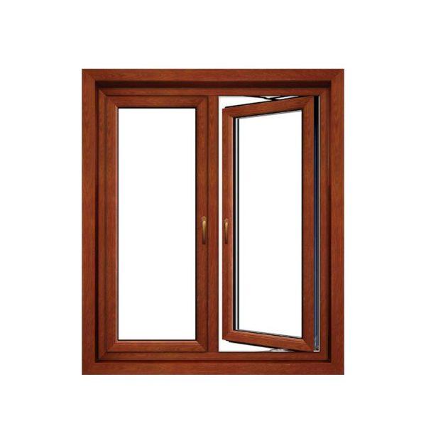 WDMA aluminium glass window with blinds Aluminum Casement Window