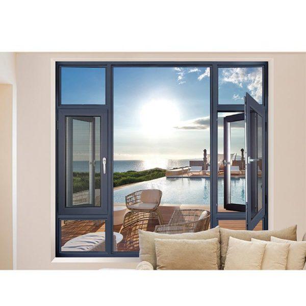China WDMA aluminium glass window with blinds
